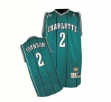 Charlotte Hornets #2 Larry Johnson Green Charlotte Hornets Stitched NBA Jersey