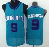 Revolution 30 Charlotte Hornets #9 Gerald Henderson Light Blue Stitched NBA Jersey