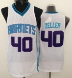Revolution 30 Charlotte Hornets #40 Cody Zeller White Stitched NBA Jersey
