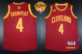Revolution 30 Cleveland Cavaliers #4 Iman Shumpert Red The Finals Patch Stitched NBA Jersey