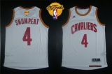 Revolution 30 Cleveland Cavaliers #4 Iman Shumpert White The Finals Patch Stitched NBA Jersey