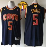 Revolution 30 Cleveland Cavaliers #5 JR Smith Navy Blue CavFanatic The Finals Patch Stitched NBA Jersey