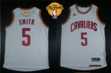 Revolution 30 Cleveland Cavaliers #5 JR Smith White The Finals Patch Stitched NBA Jersey