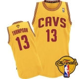 Revolution 30 Cleveland Cavaliers #13 Tristan Thompson Yellow The Finals Patch Stitched NBA Jersey