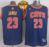 Revolution 30 Cleveland Cavaliers #23 LeBron James Navy Blue CavFanatic The Finals Patch Stitched NBA Jersey