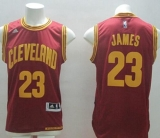 Revolution 30 Cleveland Cavaliers #23 LeBron James Red Road Stitched NBA Jersey
