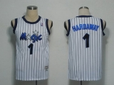 Mitchell and Ness Orlando Magic #1 Penny Hardaway White Stitched NBA Jersey