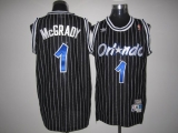 Mitchell And Ness Orlando Magic #1 Tracy Mcgrady Stitched Black Throwback NBA Jersey