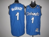 Mitchell And Ness Orlando Magic #1 Tracy Mcgrady Stitched Blue Throwback NBA Jersey
