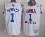 Mitchell And Ness Orlando Magic #1 Tracy Mcgrady White 2003 All Star Stitched NBA Jersey