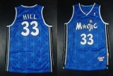 Mitchell And Ness Orlando Magic #33 Grant Hill Blue Stitched NBA Jersey