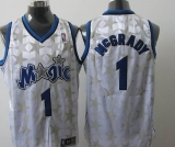 Orlando Magic #1 Tracy Mcgrady White Star Limited Edition Stitched NBA Jersey