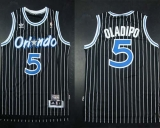 Orlando Magic #5 Victor Oladipo Black Throwback Stitched NBA Jersey
