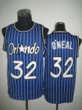 Orlando Magic #32 Shaquille O\'Neal Blue Throwback Stitched NBA Jersey