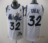 Orlando Magic #32 Shaquille O\'Neal Stitched White Throwback NBA Jersey
