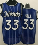 Orlando Magic #33 Grant Hill Blue Throwback Stitched NBA Jerseys