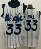 Orlando Magic #33 Grant Hill White Throwback Stitched NBA Jersey