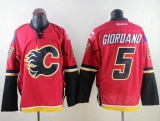 Calgary Flames #5 Mark Giordano Red Stitched NHL Jersey