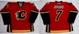 Calgary Flames #7 TJ Brodie Red Home Stitched NHL Jersey