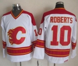 Calgary Flames #10 Gary Roberts White CCM Throwback Stitched NHL Jersey