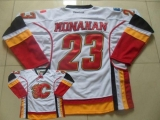 Calgary Flames #23 Sean Monahan White Stitched NHL Jersey