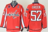 Washington Capitals #52 Mike Green Red 40th Anniversary Stitched NHL Jersey