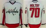 Washington Capitals #70 Braden Holtby White Stitched NHL Jersey
