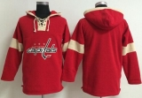 Washington Capitals Blank Red Pullover NHL Hoodie