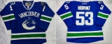 Vancouver Canucks #53 Bo Horvat Blue Home Stitched NHL Jersey