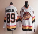 Vancouver Canucks #89 Alexander Mogilny Stitched White CCM Throwback NHL Jersey