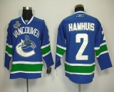 Vancouver Canucks 2011 Stanley Cup Finals #2 Hamhuis Blue Stitched NHL Jersey