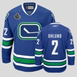 Vancouver Canucks 2011 Stanley Cup Finals #2 Hamhuis Blue Third Stitched NHL Jersey