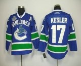 Vancouver Canucks 2011 Stanley Cup Finals #17 Ryan Kesler Blue Stitched NHL Jersey