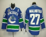 Vancouver Canucks 2011 Stanley Cup Finals #27 Malhotra Blue Stitched NHL Jersey