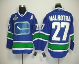 Vancouver Canucks 2011 Stanley Cup Finals #27 Malhotra Blue Third Stitched NHL Jersey
