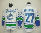 Vancouver Canucks 2011 Stanley Cup Finals #27 Malhotra White Stitched NHL Jersey