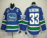 Vancouver Canucks 2011 Stanley Cup Finals #33 Henrik Sedin Blue Third Stitched NHL Jersey