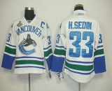 Vancouver Canucks 2011 Stanley Cup Finals #33 Henrik Sedin White Stitched NHL Jersey