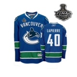Vancouver Canucks 2011 Stanley Cup Finals #40 Maxim Lapierre Blue Stitched NHL Jersey