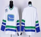 Vancouver Canucks Blank White Third 40TH Patch Stitched NHL Jersey