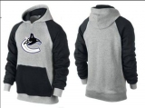 Vancouver Canucks Pullover Hoodie Grey & Black