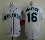 Seattle Mariners #16 Austin Jackson White Cool Base Stitched MLB Jersey
