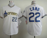 Seattle Mariners #22 Robinson Cano White 1979 Turn Back The Clock Stitched MLB Jersey