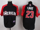 Seattle Mariners #23 Nelson Cruz Black 2015 All-Star American League Stitched MLB Jersey