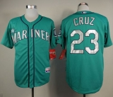 Seattle Mariners #23 Nelson Cruz Green Cool Base Stitched MLB Jersey