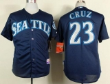 Seattle Mariners #23 Nelson Cruz Navy Blue Cool Base Stitched MLB Jersey