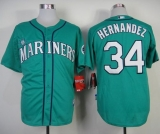 Seattle Mariners #34 Felix Hernandez Green Alternate Cool Base Stitched MLB Jersey