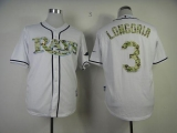 Tampa Bay Rays #3 Evan Longoria White USMC Cool Base Stitched MLB Jersey