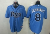 Tampa Bay Rays #8 Desmond Jennings Light Blue Cool Base Stitched MLB Jersey