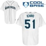 Seattle Mariners #51 Ichiro Suzuki White Cool Base Stitched MLB Jersey
